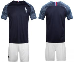 2c6a25217 2018 FIFA World Cup France Team Football Jersey suits Short-sleeved T-shirt  - L code