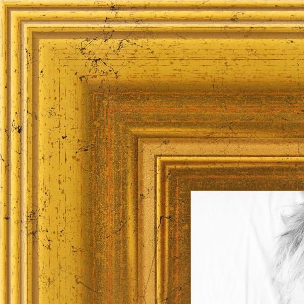 Arttoframes 16x21 Inch Gold Foil With Steps Wood Picture Frame