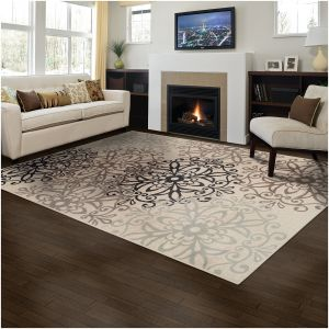 Superior Elegant Leigh Collection Area Rug 8mm Pile Height With Jute Backing Chic Contemporary Fl Medallion Pattern Anti Static Water Repellent Rugs
