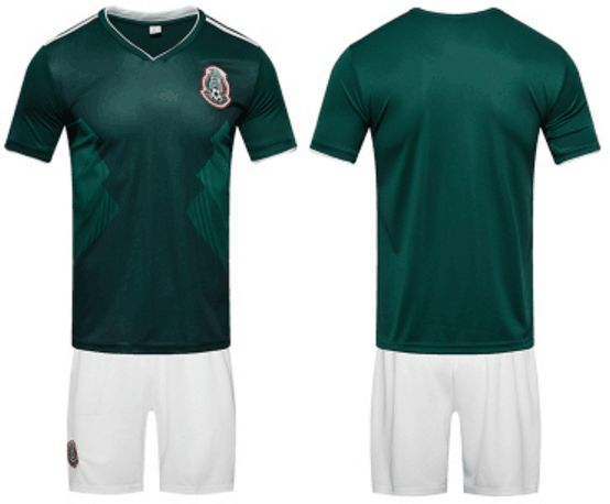 on sale 07f2e ab2a5 2018 FIFA World Cup Mexico National Team Jersey Set Sports Set Fan Supplies  Size M