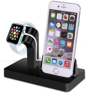 Apple Watch Charger Stand Dock, Stand Holder & Charging Docking Station For Apple iWatch, iPhone, iPod