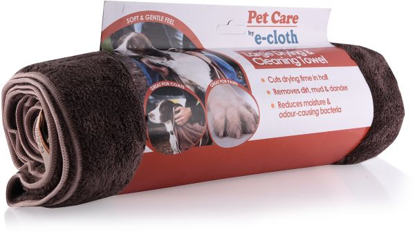 022e3bf60f66 E-Cloth Pets Large Cleaning and Drying Towel - Brown | Souq - Egypt