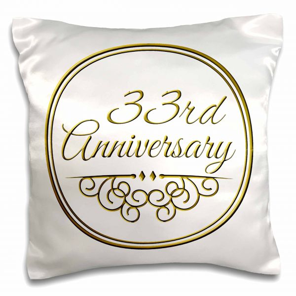 Inspirationzstore Occasions 33rd Anniversary Gift Gold Text For