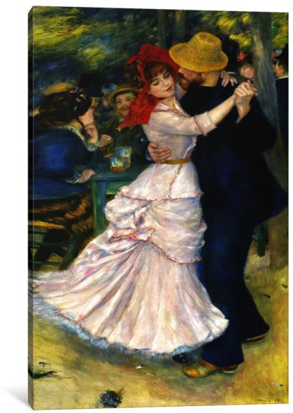 Icanvasart 1 Piece Dance At Bougival Canvas Print By Pierre Auguste Renoir 0 75 X 8 12 Inch 1128