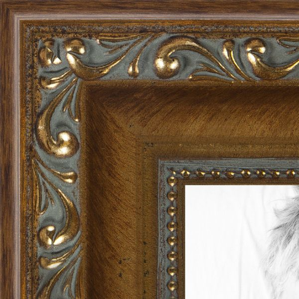 Picture Frame Antique Gold With Beaded Detailing 15 Wide 6 X 9