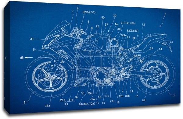 Souq larger than life prints sport motorcycle gearhead blueprint larger than life prints sport motorcycle gearhead blueprint art 30x20 malvernweather Gallery