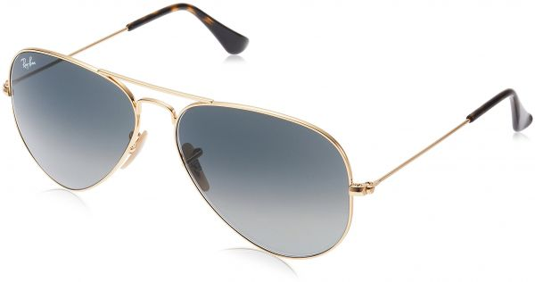 af54e0c96f ... gunmetal 6d421 dc791; official ray ban 3025 aviator large metal non  mirrored non polarized sunglasses gold light grey gradient