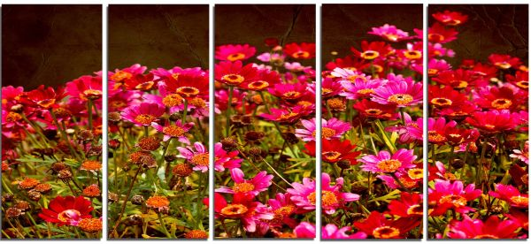Designart Pt14144 Small Red Flowers In Spring Photo Large