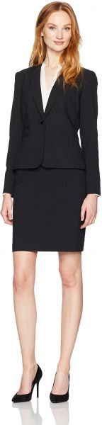 Tahari By Arthur S Levine Women S Pinstripe Skirt Suit With