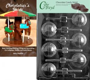 Cybrtrayd MdK25G-C423 Medium Santa Boot 3D Christmas Chocolate Mold with Packaging Kit Includes 25 Cello Bags and 25 Green Twist Ties