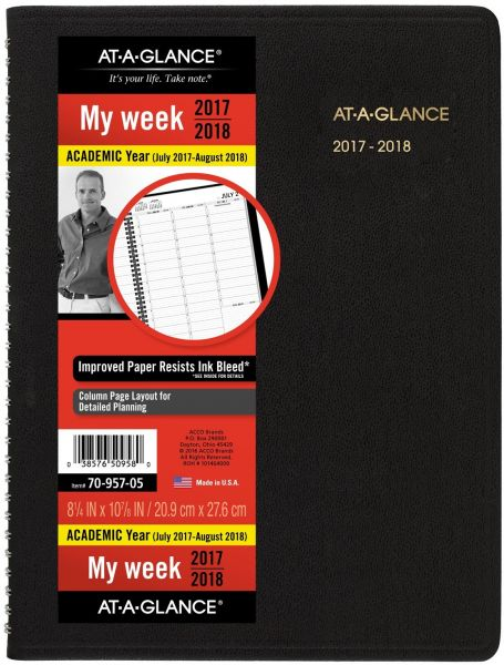 at a glance academic monthly planner july 2017 december 2018 8 7