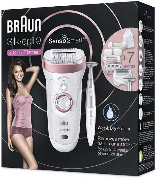 Braun Silk-épil 9 SensoSmart™ 9 890 epilator rose gold - Cordless Wet   Dry  epilator with 7 extras  465bc9f4e0