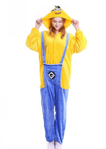 9c8000679a Flannel Minion Themed Night Suit with Jumpsuit