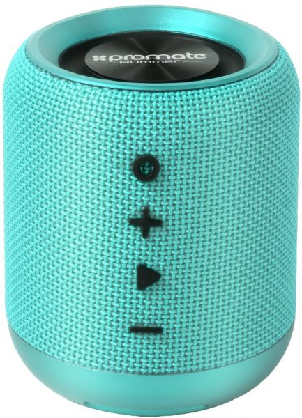 Promate Bluetooth Speaker, Premium Wireless Handsfree Speaker with Built-In  Mic, Audio Jack, FM Radio and Micro SD Card Slot for iPhone X, Samsung S9,