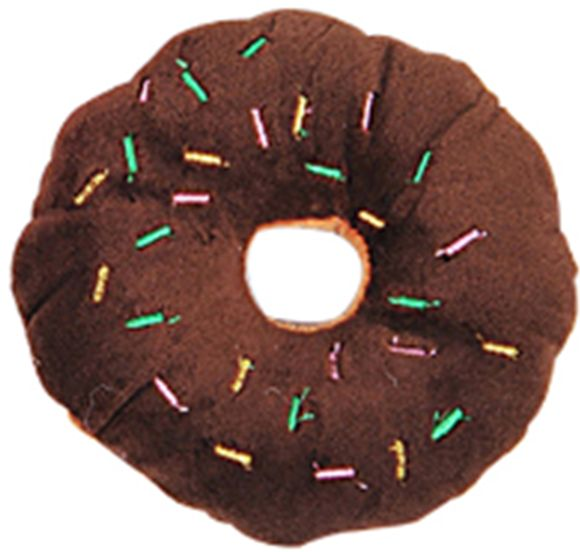Pet Chew Cotton Donut Play Toys Lovely Pet Dog Puppy Cat Tugging Chew Squeaker Quack Sound Toy Chew Donut Play Toys