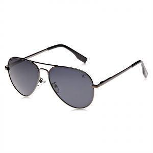 7e7919d52ee8 Winstonne Hendricks Men s Aviator Polarized Gunmetal Sunglasses - WNPO1000  58-15-135mm