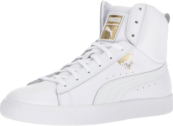 87f678f7a14 Puma Clyde Mid Core Foil Fashion Sneakers for Men - White