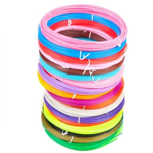 3D Pen Filament 20 PCS 1.75 MM PLA Pure Filament for 3D Printer Pen, 3D Printing or Modeling Stereoscopic Rapid Prototyping with Total of 20 Range Colors