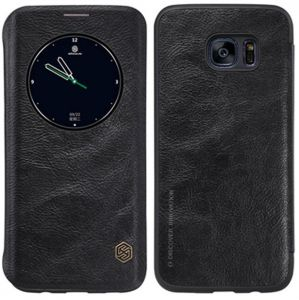 NILLKIN QIN Series for Samsung Galaxy S7 Edge/G935 Business Style Horizontal Flip Leather Case with Call Display ID & Sleep/Wake-up Function( Black)