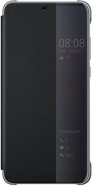 Huawei Smart View Flip Cover for Huawei Nova 3e - Black