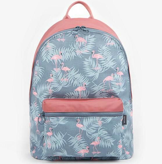 0607253971d6 3D Flamingo Cartoon Printing Backpack Stitching Floral Casual Daily Travel  Bag Teenagers School Bag Women Girls All-match Canvas Travel Laptop Bags