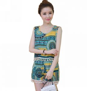 be3a59038aeae Multi Color Round Neck Clothing Set For Women
