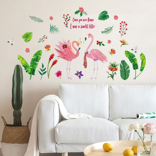 3d stereo variety of cactus green plant wall stickers kids bedroom