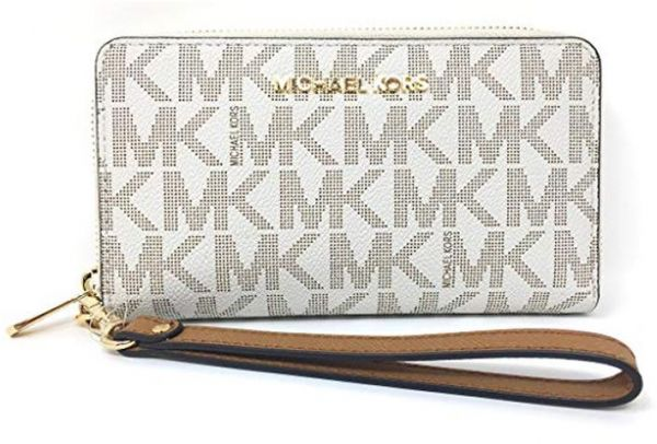 1406d14aa10f Michael Kors Jet Set Travel Large Flat Multifunction Phone Case Wristlet