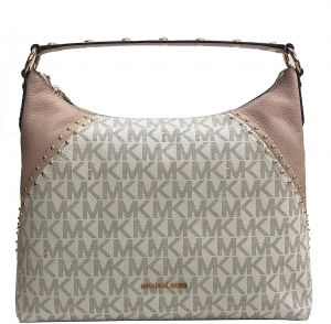 4c2871b0d1b3 Michael Kors Aria Medium Shoulder Bag Vanilla MK Ballet