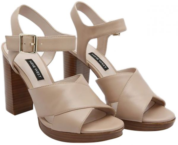 49642f206851 Nine West Jimar Heel Sandals for Women - Light Natural