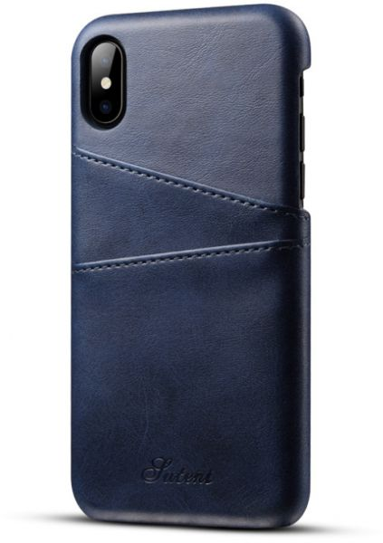 watch 12636 ba8c0 Apple iPhone X Phone Case Leather Wallet Phone Cases with Card Holder - Blue