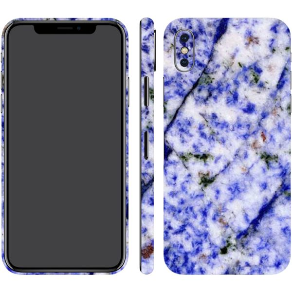 Switch iPhone X White & Blue Pattern Marble (Printable) Textured Skin