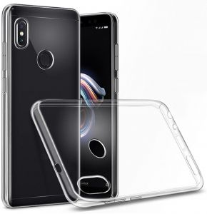Xiaomi Redmi Note 5 Pro TPU Silicone Soft Thin Back Case Cover - Clear By Muzz
