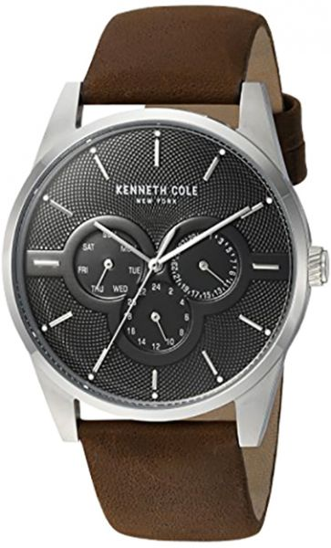 d70e144b217 Kenneth Cole Men s Black Dial Genuine Leather Band Watch - KC15205001