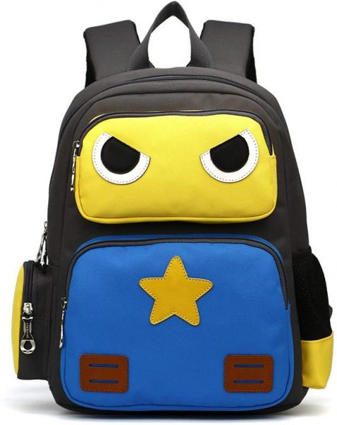 c95479b73d4f LANSERM Robot Kids School Backpack Cartoon Book Bags for Boys Girls ...