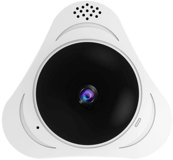 Fish Eye Lens IP Camera,3 million dpi 3D 360 Degree Panoramic Night Vision  Wireless Security IP camera, Two Way Audio Video Camera, Indoor/Outdoor