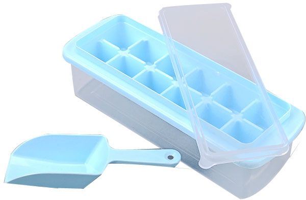 12 Cavity Ice Cube Tray Box With Lid Cover Drink Jelly Freezer Mold Mould Maker