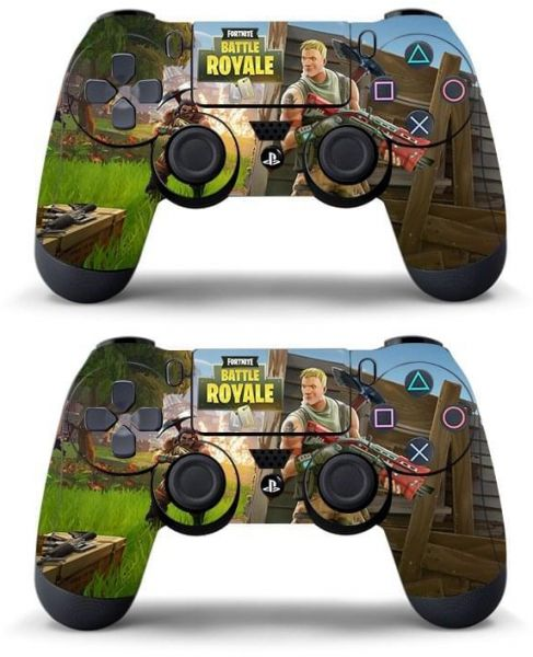 Data Frog 2 Pcs Fortnite Sticker For Sony Playstation 4 Ps4 Game Controller Skin Stickers Decal Vinyl Fortnite Game For Ps4 Slim