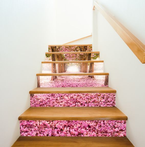 6pcs diy 3d stairway stickers stairs stickers floor wall decor
