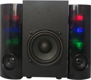 2.1CH Surround Sound Home Theater Party Dancing LED Light Stereo Speaker System Subwoofer