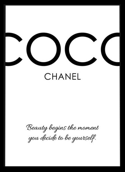 Chanel Quotes | Spoil Your Wall Frames Coco Chanel Quotes Picture Frames Home