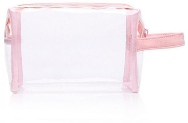 2a2019385ba0 Crystal Clear Cosmetic bag TS A Air Travel Toiletry bag Set with Zipper  Vinyl PVC Make-up Pouch Handle Straps for Women Men, Waterproof Packing ...
