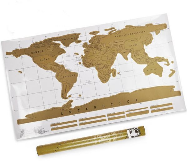 82 X 58cm Travel Scratch Off Map Personalized World Map Poster