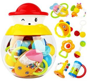 Toys For Infants >> Style Carry Rattle Teether Set Baby Toys Infants Baby Teether Rattle Toy Gift Sets 8 Pack