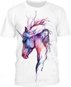 0a0f8edf Women Ladies Short Sleeve Round Neck T Shirts Top Blouse 3D Animal Printing  Loose Casual Summer Size L-White