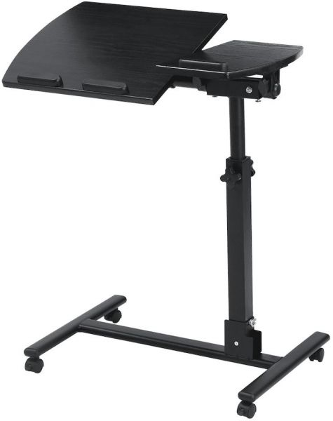 langria laptop stand rolling cart foldable portable mobile height
