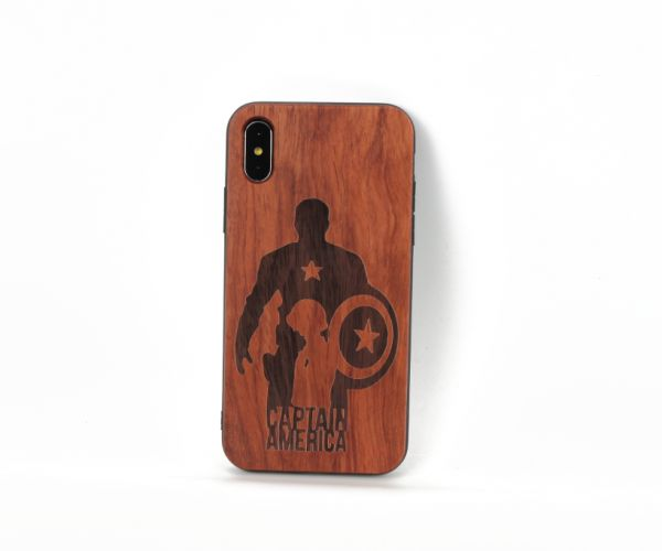 Ultra-thin iPhone X case stylish wood matte phone shell anti fall  shockproof protective sleeve cover