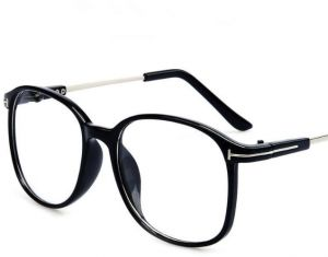 fd1a01dc6c Simple Style Oversized Black Frame Eyeglasses Retro Flat Medical Glasses  for Unisex
