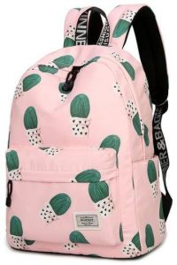706e9e1d2fb1 Cute Women Girl Cactus Printed Backpack Travel Students Polyester School  Shoulder Bag Backpack Purse for Outdoor Sport Teenager Causal Laptop Bag