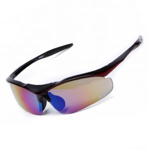 aec58373a59f1 Outdoor Drive Sport UV400 Sunglasses Mountaineering Cycling Windproof  Eyeglass with 5 lens